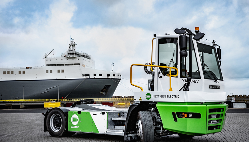 Terberg YT terminal tractor with EV technology